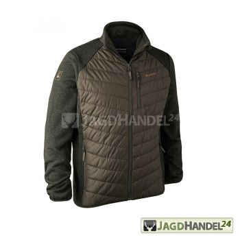DEERHUNTER Moor wattierte Jacke mit Strick  DH Timber