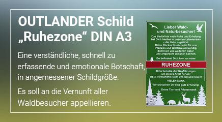 Outlander Schild Ruhezone